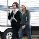 "Emmy Rossum: on the set of ""You're Not You"" in Los Angeles"