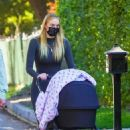 Joe Jonas and Sophie Turner with their daughter Willa in Los Angeles