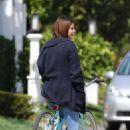 Selena Gomez – Riding her bike in Studio City
