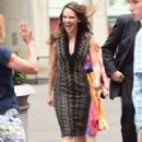 Hilary Swank Leaving Fox and Friends In Nyc