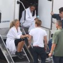 On set Of Catching Fire in Atlanta