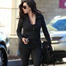 Kim Kardashian: hits the gym early in Studio City
