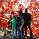 Kevin Eastman and Santino Ramos Day 1 of the TMNT Mural Painting