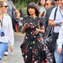 Kerry Washington in Floral Dress Out in Los Angeles
