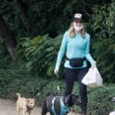 Courtney Thorne-Smith – Out for a dog walk in Brentwood - 454 x 574