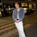 Michelle Hunziker in Long Dress – Out in Milan - 454 x 558