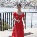 Selena Gomez in Red Long Dress out for a walk in Malibu - 454 x 677