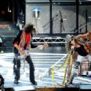 Aerosmith perform in concert at the Stone Music Festival held at ANZ Stadium