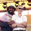 Annie Lennox and Luciano Pavarotti
