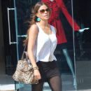 Sofia Vergara is all smiles exiting a shopping mall in Los Angeles on Wednesday (September 28)