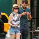 Couple Diane Kruger and Joshua Jackson spotted out and about in New York City, New York on July 8, 2015 - 375 x 600