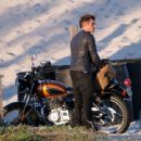 Zac Efron  filming scenes on the set of 'Baywatch' in Savannah, Georgia on March 23, 2016