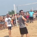 Jonas Brothers Play Volleyball In Chicago