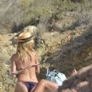 Heidi Klum In Bikini At A Beach In Italy