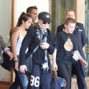 Madonna leaving the Ritz Hotel with her kids, Lourdes and Rocco, in Paris, France (July 14)