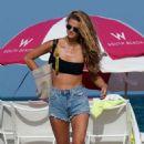 Kate Bock in Black Bikini at the beach in Miami Beach - 454 x 716