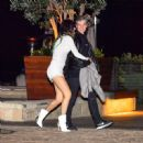 Bella Thorne in White Mini Dress – Leaves Nobu in Malibu