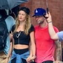 Adam Levine and Behati Prinsloo in New York City (September 2)