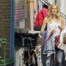 Sienna Miller Walks her Dog