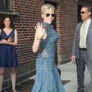 Scarlett Johansson At The Late Show With Stephen Colbert' TV show in New York City - 454 x 680