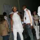 Amber Rose and Chris Brown at the White Party After Party at Guys and Dolls Lounge in Los Angeles, California - July 4, 2009 - 454 x 642
