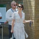 Candice Brown and fiance Liam Macaulay – Arriving at Wimbledon Tennis Tournament in London - 454 x 601