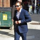 """Jake Gyllenhaal arriving at the """"Late Show with David Letterman"""" in New York City (August 27)"""