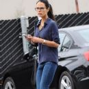 Jordana Brewster is seen stopping by a dry cleaners in Brentwood, California on May 9, 2016