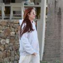 Lindsay Lohan at Lohans Beach Club in Mykonos