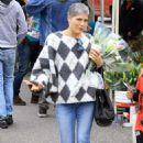 Selma Blair – Shopping candids at Farmers Market in Studio City