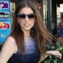 Anna Kendrick at a French television studio in Paris