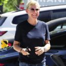 Ellen DeGeneres stops by a studio in West Hollywood, California on September 3, 2014