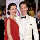 Benedict Cumberbatch and his wife Sophie Hunter - February 22, 2015 - Arrivals at the 87th Annual Academy Awards - 433 x 600