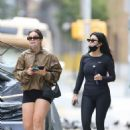 Addison Rae and Kourtney Kardashian – Workout candids in West Village