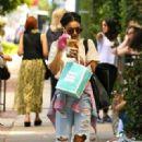 Vanessa Hudgens spotted leaving Kate Somerville Skin Store on Melrose Avenue in Los Angeles on Wednesday, August 26,2015