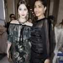 Freida Pinto at the Salvatore Ferragamo show