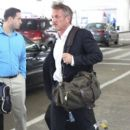 Sean Penn is spotted arriving at the Bradley International Terminal at LAX on March 25, 2017