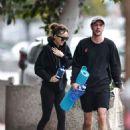 Dakota Johnson – Leaving Yoga on a rainy Los Angeles