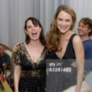 Actresses Mia Kirshner (L) and Jacinda Barrett (R) attend the Pantheon Book Party For 'I Live Here' at The Motley Bird Nest on October 14, 2008 in LA, California - 396 x 594
