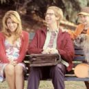 Jennifer (Jennifer Esposito), Pistachio (Dana Carvey) and Jennifer's son, Barney (Austin Wolff), enjoy the park together in Columbia's The Master of Disguise - 2002