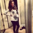 Ready to pop! Danielle posted this picture to Instagram on Wednesday 1/15 with the caption, 'It's so close!!'