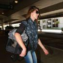 Ashley Greene At Lax Airport In La