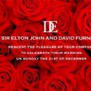 Elton John and David Furnish Wedding Invite 12/21/2014