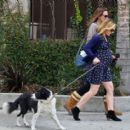 Anna Paquin taking her dog for a walk in Venice, CA (August 24) - 454 x 414
