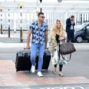Bianca Gascoigne and boyfriend CJ Meeks Arrives at the airport in London - 454 x 502