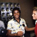 Tatum O'Neal and Michael Jackson at a party with the Jackson 5