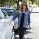 Christine Ouzounian is spotted leaving her home in Santa Monica, California and heading to a meeting in Century City on August 14, 2015 - 441 x 600