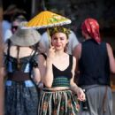 Frances Bean Cobain at Renaissance Pleasure Faire in Los Angeles