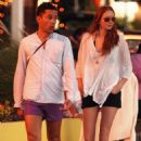 Lily Cole and Enrique Murciano  in St. Barthelemy - January 1, 2009 - 454 x 671