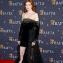 Eleanor Tomlinson attends the BAFTA Film Gala at the The Savoy Hotel, ahead of the EE British Academy Film Awards this Sunday, on February 08, 2019 in London, England - 400 x 600